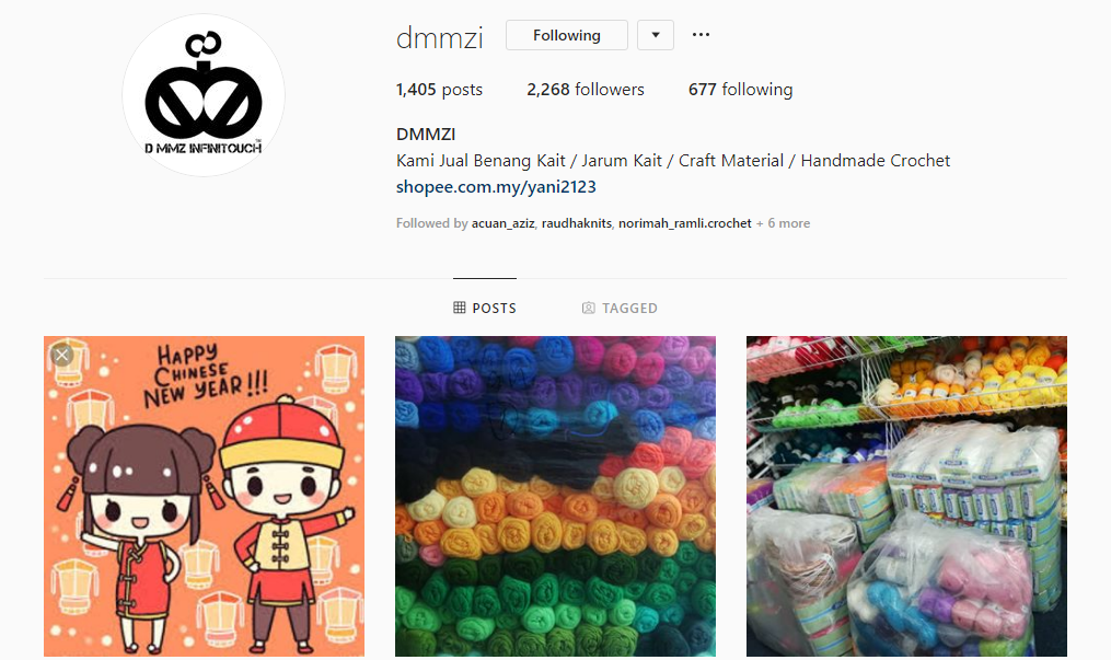 DMMZI (IG SHOP) CHEAP YARN SHOP MALAYSIA