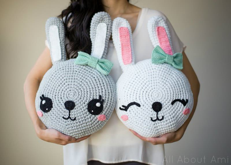 Amigurumi Bunny Pillow by All About Ami
