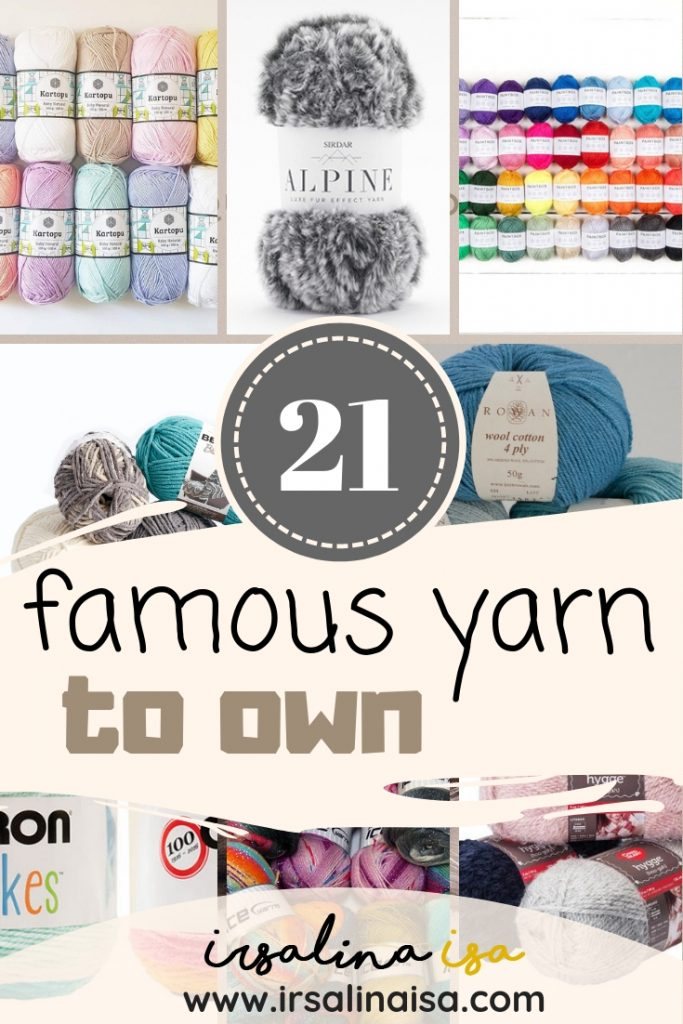 famous yarn to own for every crocheters lists by irsalina isa