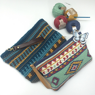 Ethnic tapestry pencil case free pattern by Ana Alfonsin, shared by Irsalina Isa Quick crochet within a day