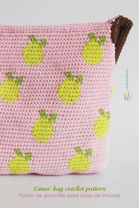 pineapple tapestry pencil case free pattern by chabe pattern, shared by Irsalina Isa Quick crochet within a day