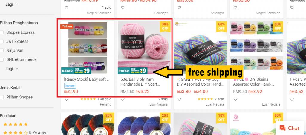 shopee my shop cheap good yarn online irsalinaisa quick crochet within a day