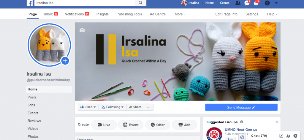 lockdown in malaysia for crocheter irsalina isa quick crochet within a day facebook page