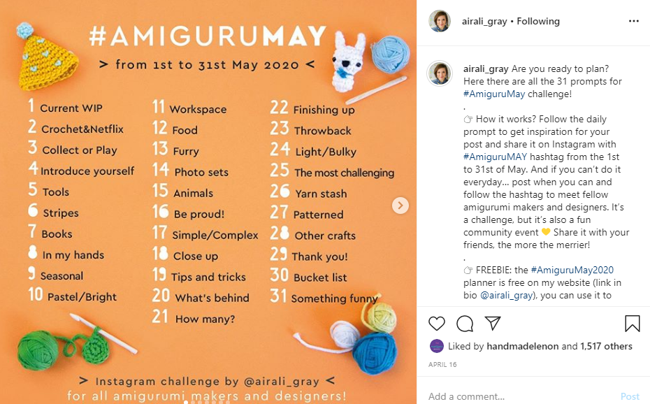 amigurumay2020 airaligray challenge irsalinaisa quick crochet within a day