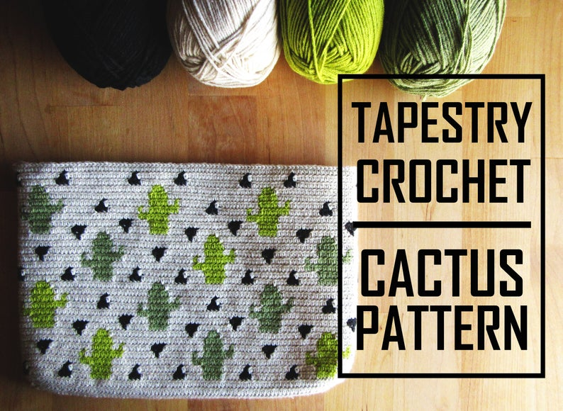 cactus tapestry pencil case free pattern by story of a mulbery, shared by Irsalina Isa Quick crochet within a day