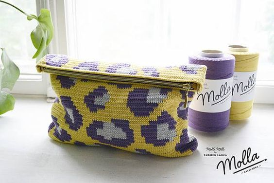 LEOPARD tapestry pencil case free pattern by MOLLA MILLS, shared by Irsalina Isa Quick crochet within a day