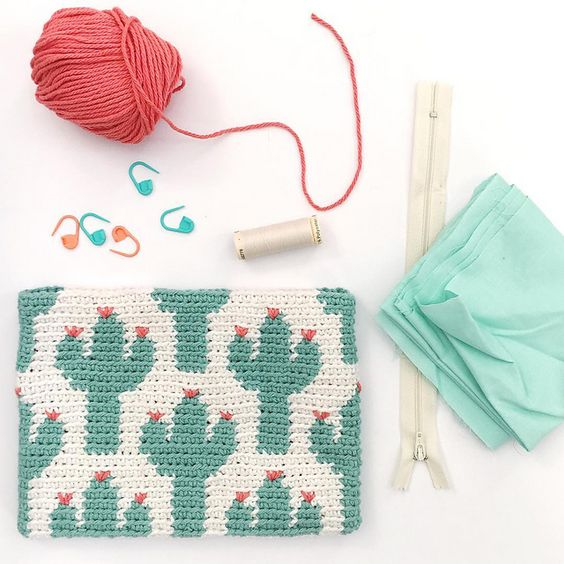 cactus tapestry pencil case free pattern by Stuffstephmakes, shared by Irsalina Isa Quick crochet within a day